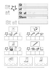 Arbeitsblatt in der Grundschule - Buchstaben-Übungen ...