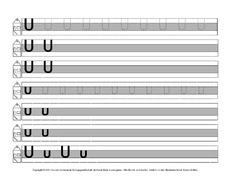 Arbeitsblatt in der Grundschule - Druckschrift-Mittellinie-grau ...