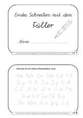Arbeitsblatt In Der Grundschule Tinte Füller Schreibübungen