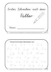 arbeitsblatt in der grundschule tinte f ller schreib bungen schreiblehrg nge deutsch. Black Bedroom Furniture Sets. Home Design Ideas