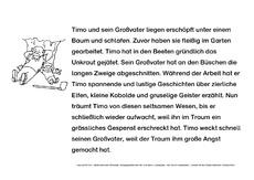 Arbeitsblatt in der Grundschule - Lesetexte-Adjektive-finden ...