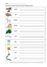 Arbeitsblatt in der Grundschule - zusammengesetzte Adjektive ...
