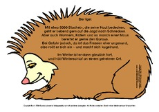 Igel In Der Grundschule Gedichte Deutsch Klasse 2