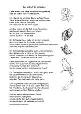 Muttertagsgedichte in der grundschule deutsch for Raumgestaltung lyrik