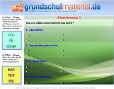 silbentrennung in der grundschule deutsch klasse 2