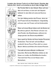 Leseverständnis in der Grundschule - Arbeitsblätter-Lesetraining ...