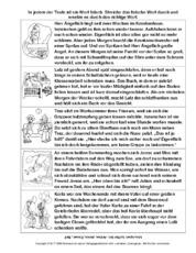 Arbeitsblätter-Lesetraining - Lesen - Deutsch Klasse 2 ...