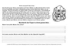 Leseverständnis In Der Grundschule Arbeitsblätter Lesetraining Lesen Deutsch Klasse 2 Grundschulmaterial De