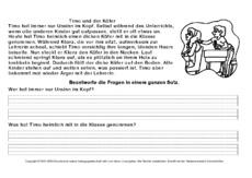 Leseübung in der Grundschule - Arbeitsblätter-Lesetraining - Lesen ...