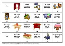 Arbeitsblatt in der Grundschule - Präpositionen - Lesedomino - Lesen ...