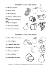 Ab Lesen Und Malen Lesen Und Malen Lesen Deutsch Klasse 2