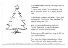 Lese-Mal-Blatt (Arbeitsblatt) in der Grundschule - Advent-Lesen ...