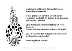 Fasching Lesen Und Malen Lesen Und Malen Lesen Deutsch Klasse