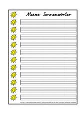 Arbeitsblatt in der Grundschule - Nomen - Deutsch Klasse 2 ...