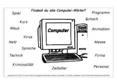 Computer Wörter In Der Grundschule Grundschulmaterialde