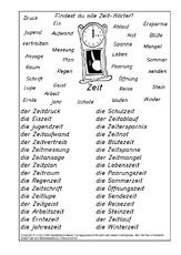 Arbeitsblatt in der Grundschule - N-Z-Nomen zusammensetzen - Nomen ...