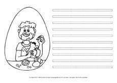 Arbeitsblatt in der Grundschule - Ostern-Freies Schreiben ...