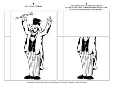 Bastelvorlage In Der Grundschule Klappbücher Zirkus Lapbook