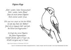 Ausmalbild In Der Grundschule Gedichte Von H V Fallersleben
