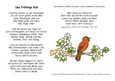 Gedichte fruhling tiere