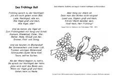 Gedichte 4 strophen fruhling