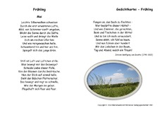 Mai In Der Grundschule Kartei Frühlingsgedichte Gedichte