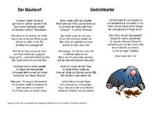 Wilhelm busch gedichte maulwurf