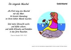 Klassische Gedichte In Der Grundschule Kartei Gedichte