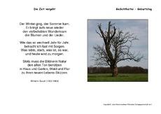 Gedicht zeit grundschule