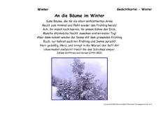 Gedicht baum im winter