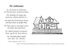 Christian Morgenstern Arbeitsblatt In Der Grundschule