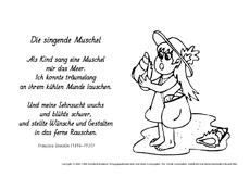 Die Singende Muschel Stoecklin Kartei Gedichte Allgemein