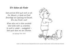 Weihnachtsgedichte Für Kinder Grundschule.Gedicht In Der Grundschule Ausmalbilder Werkstatt Gedichte