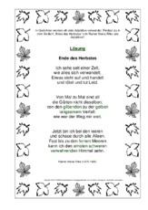 Rainer Maria Rilke In Der Grundschule Werkstatt Herbstgedichte
