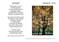Goethe herbstgedicht