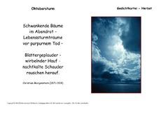 Christian Morgenstern In Der Grundschule Gedichte Kartei