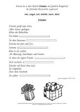 weihnachtsgedicht in der grundschule deutsch klasse 3. Black Bedroom Furniture Sets. Home Design Ideas