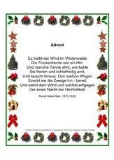 Rainer Maria Rilke In Der Grundschule Weihnachtsgedichte