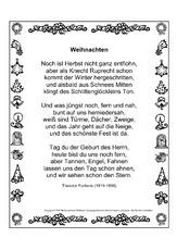 Englische weihnachtsgedichte auf deutsch