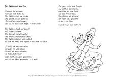 Arbeitsblatt in der Grundschule - Ausmalbilder-Wintergedichte ...