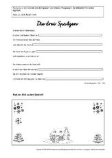 Arbeitsblatt in der Grundschule - Werkstatt Wintergedichte ...