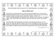 Weihnachtsgedichte Zum Abschreiben.Gedicht Für Werkstattarbeit In Der Grundschule Schreiben