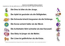 1.Vergleichssstufe - Adjektive - Grammatik - Deutsch Klasse 3 ...