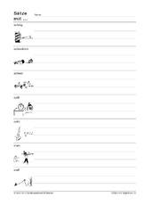 Satze bilden mit