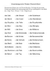nomen in der grundschule deutsch klasse 3