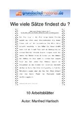 Arbeitsblatt in der Grundschule - Satzanalyse - Grammatik - Deutsch ...