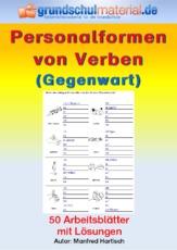 Verben (Arbeitsblatt) in der Grundschule - Personalform ...