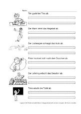 4 5seiten personalformen arbeitsbl tter verben grammatik deutsch klasse 3. Black Bedroom Furniture Sets. Home Design Ideas