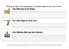 Arbeitsblatt in der Grundschule - unregelmäßige Verben ...
