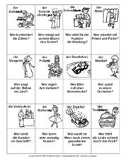 Spiel in der Grundschule - Berufe raten - Lernspiele - Deutsch ...